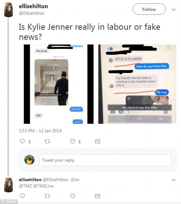Kylie Jenner đã vào bệnh viện sinh con?