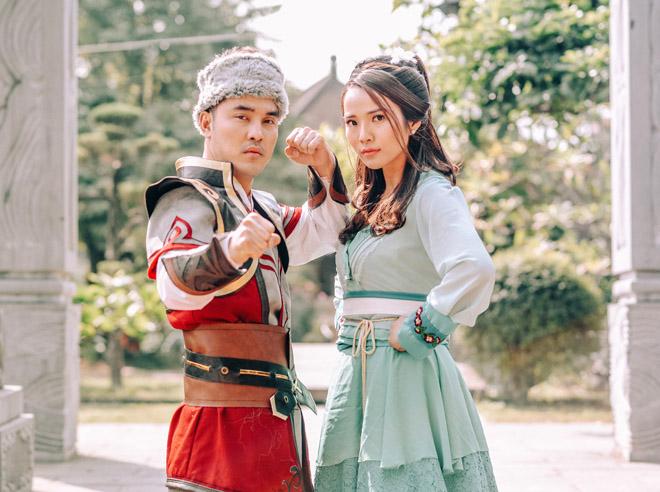 Vợ chồng Ưng Hoàng Phúc hóa Quách Tĩnh, Hoàng Dung trong MV cổ trang