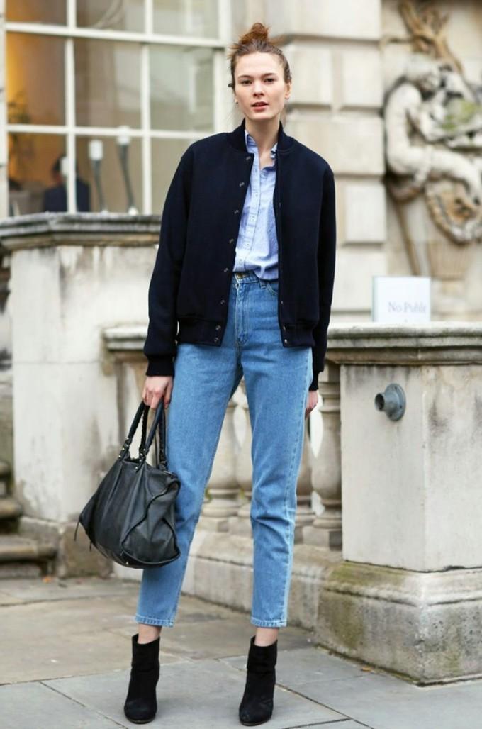 Bí quyết diện mom jeans hợp xu hướng