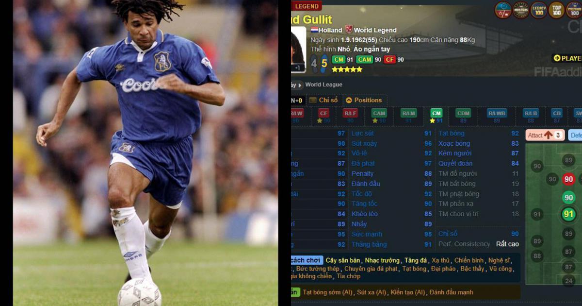 FIFA Online 3 - Nếu có thể, Bạn muốn dùng Ruud Gullit WL ở vị trí nào?