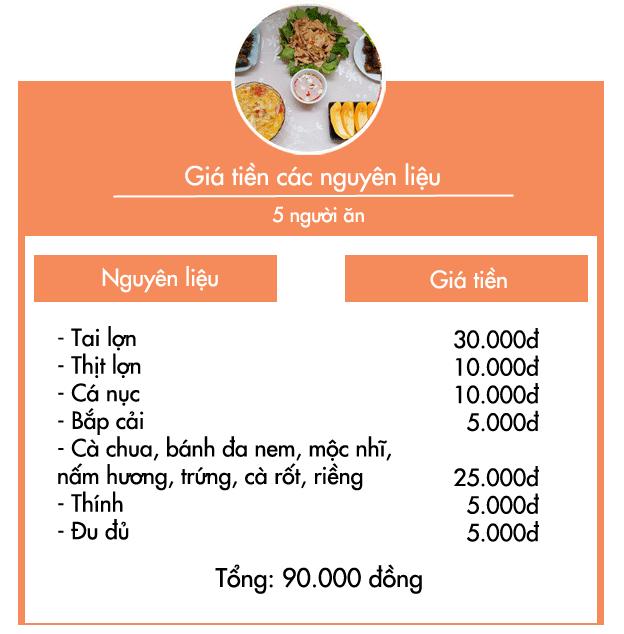 Chỉ với 90.000 đồng được bữa cơm 5 món cả nhà ai cũng khen ngon