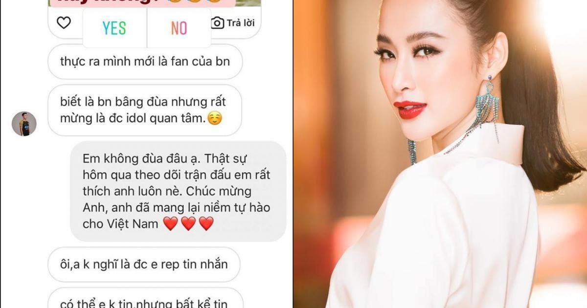 Angela Phương Trinh công khai tin nhắn riêng tư với thủ môn Tiến Dũng: Lời đùa cợt vướng phản ứng mạnh