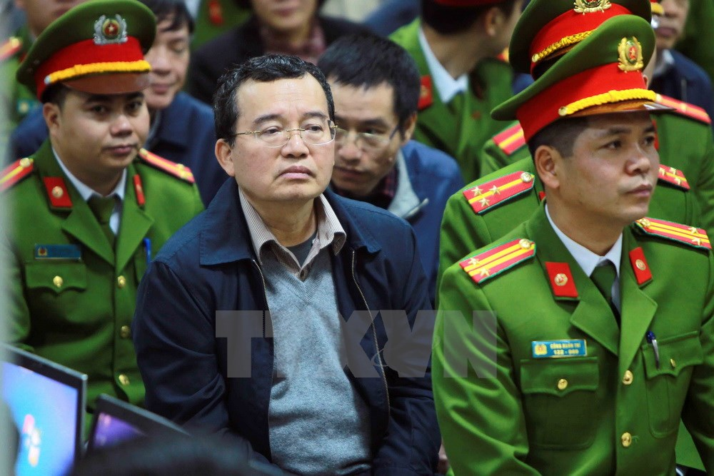 Cận cảnh ông Đinh La Thăng và đồng phạm bị áp tải vào tòa