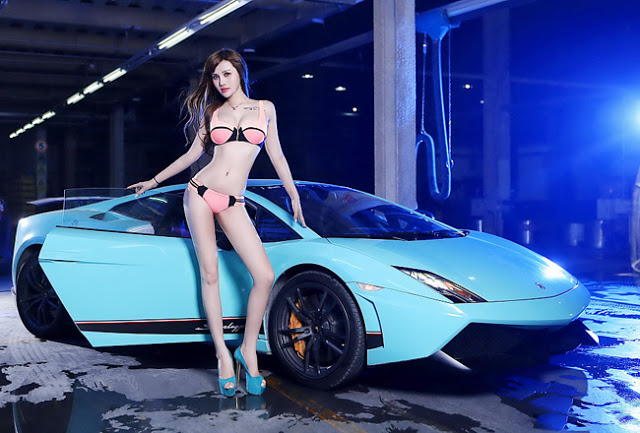 Chân dài nóng bỏng, gợi cảm khoe đường cong bên Lamborghini - Hình 3