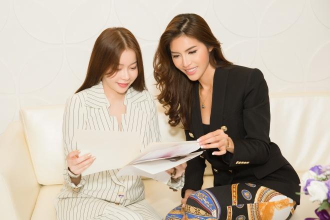 Minh Tú cùng Hoa hậu Hải Dương bàn chiến lược chinh phục vương miện Hoa hậu Siêu quốc gia 2018 - Hình 5