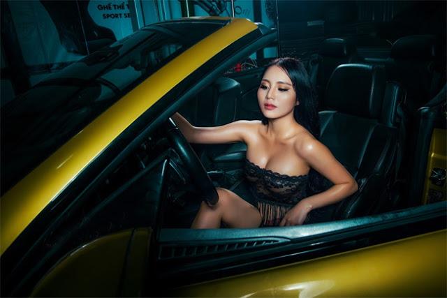 Ngẩn ngơ không rời với hot girl Sài thành bên siêu xe - Hình 11