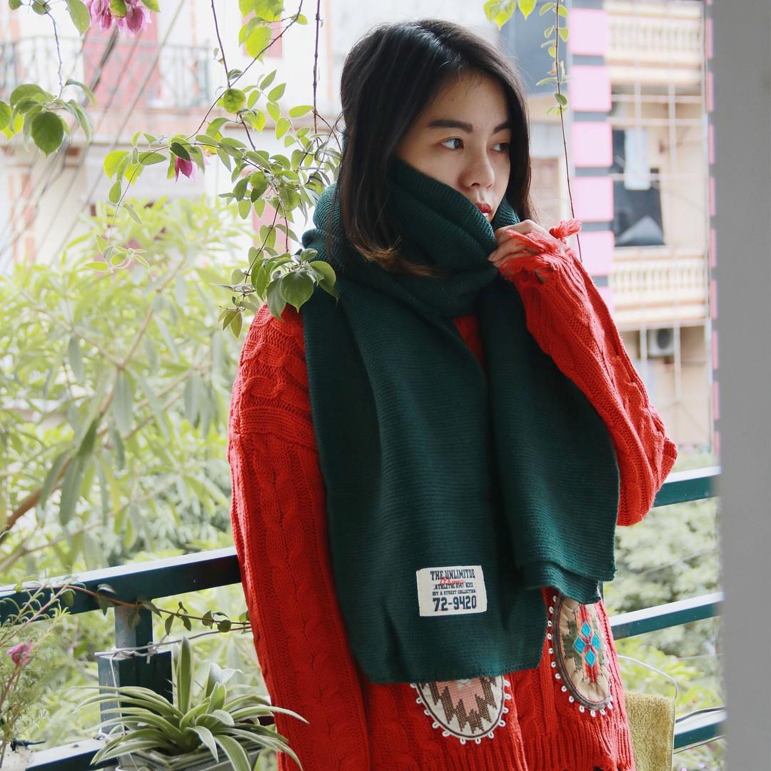 Những mẫu khăn quàng len siêu xinh cho nàng một mùa đông ấm áp - Hình 6
