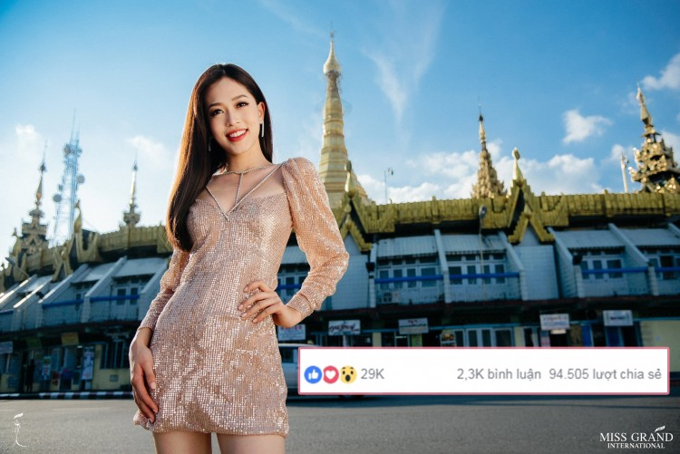 Phương Nga dẫn đầu với hơn 2 triệu điểm, lăm le thắng toàn thế giới tại Miss Grand International 2018 - Hình 2