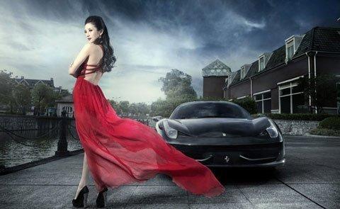 Người đẹp thướt tha bên siêu xe - Người đẹp - #HotGirl