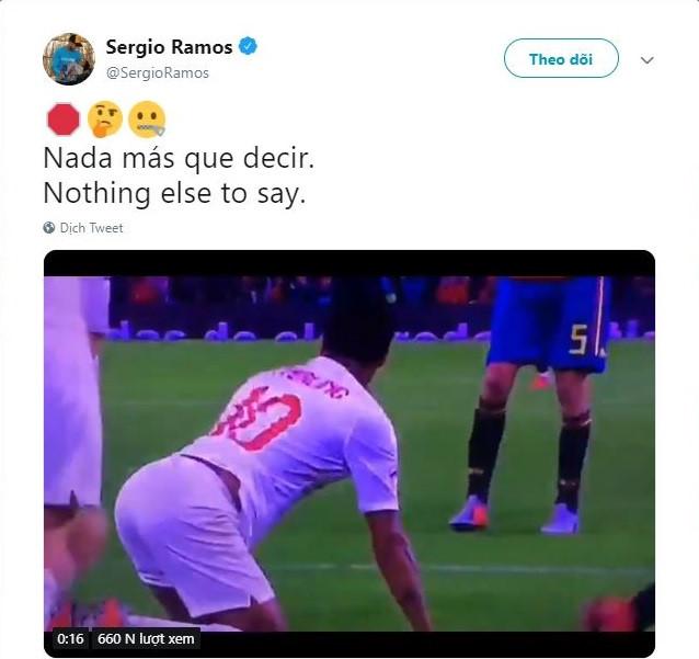 Ramos tung clip tố Sterling ăn vạ thô thiển - Hình 1