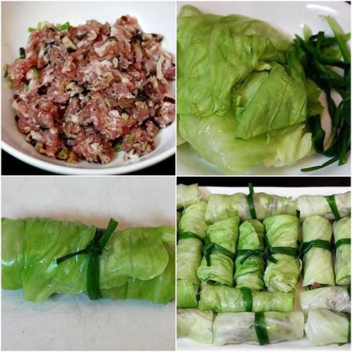 Món ngon mỗi ngày: Bắp cải cuốn thịt hấp lạ mà ngon - Hình 2
