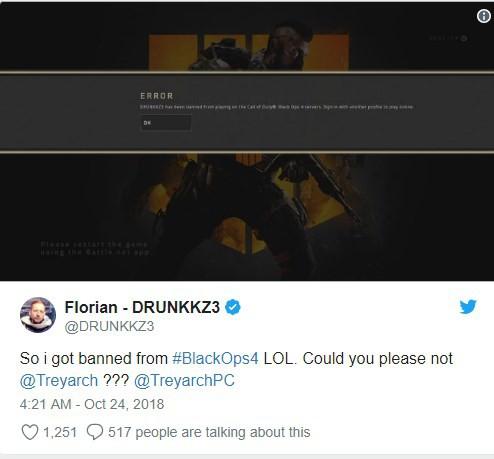 Nhân viên phát triển của Battlefield 5 bất ngờ bị khóa tài khoản Call of Duty: Black Ops 4 và đây là lý do - Hình 1
