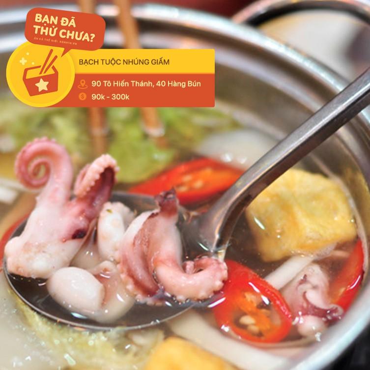 Ai mà nghĩ ở Hà Nội lại có ti tỉ món ăn kết hợp với bạch tuộc hay ho đến mức này - Hình 15