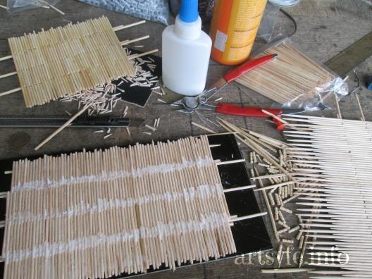 Cách làm ngôi nhà sàn xinh xắn bằng tăm tre - Hình 2