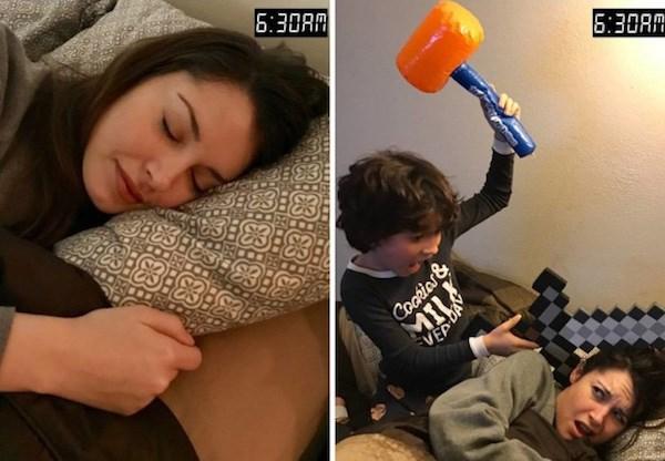 9 bức ảnh hài hước về sự khác biệt giữa trước và sau khi làm mẹ - Hình 1