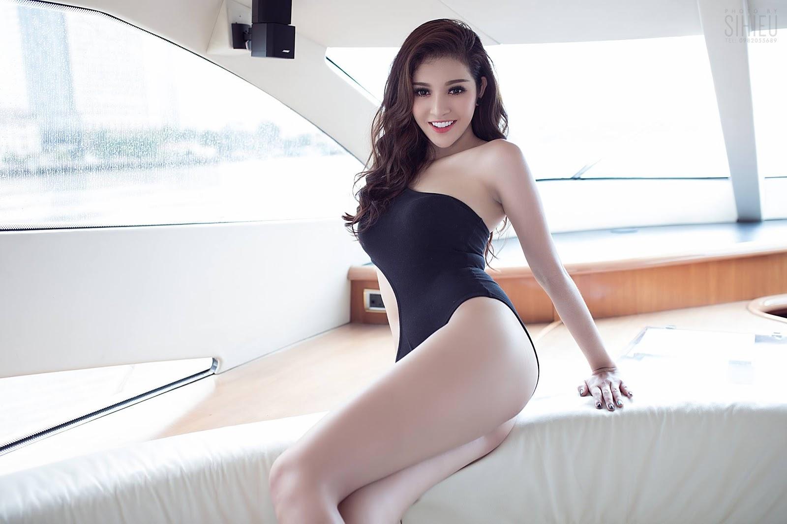 Cô nàng Thiên Hương khoe dáng trên du thuyền - Hình 6