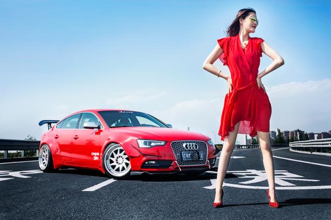 Hotgirl khoe 3 vòng quyến rũ bên xe Audi A5 - Hình 8