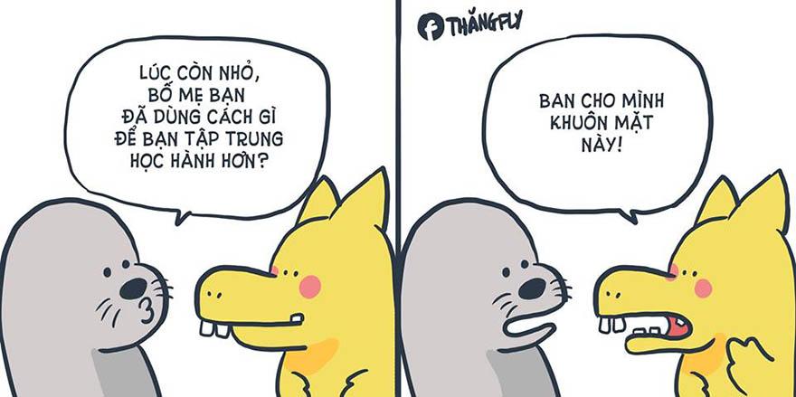 Những mẩu truyện tranh hài hước về chú rồng Pikagon (Pikalong) - Hình 2