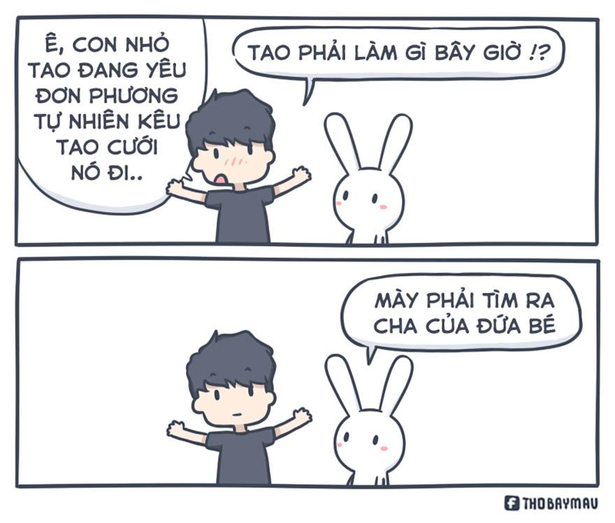 Những mẩu truyện tranh hài hước về chú thỏ 7 màu - Hình 1