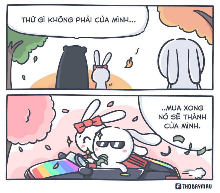 Những mẩu truyện tranh hài hước về chú thỏ 7 màu - Hình 14