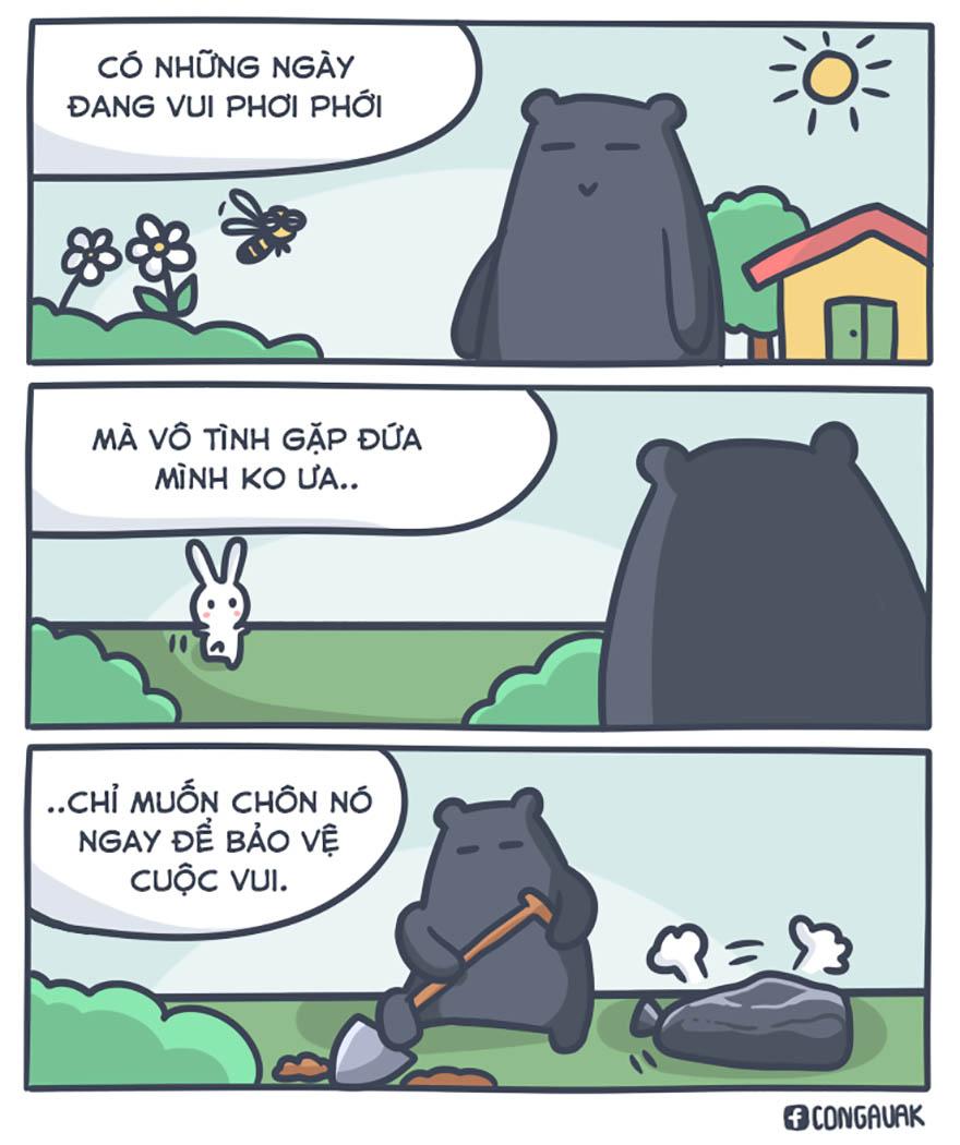 Những mẩu truyện tranh hài hước về chú thỏ 7 màu - Hình 10