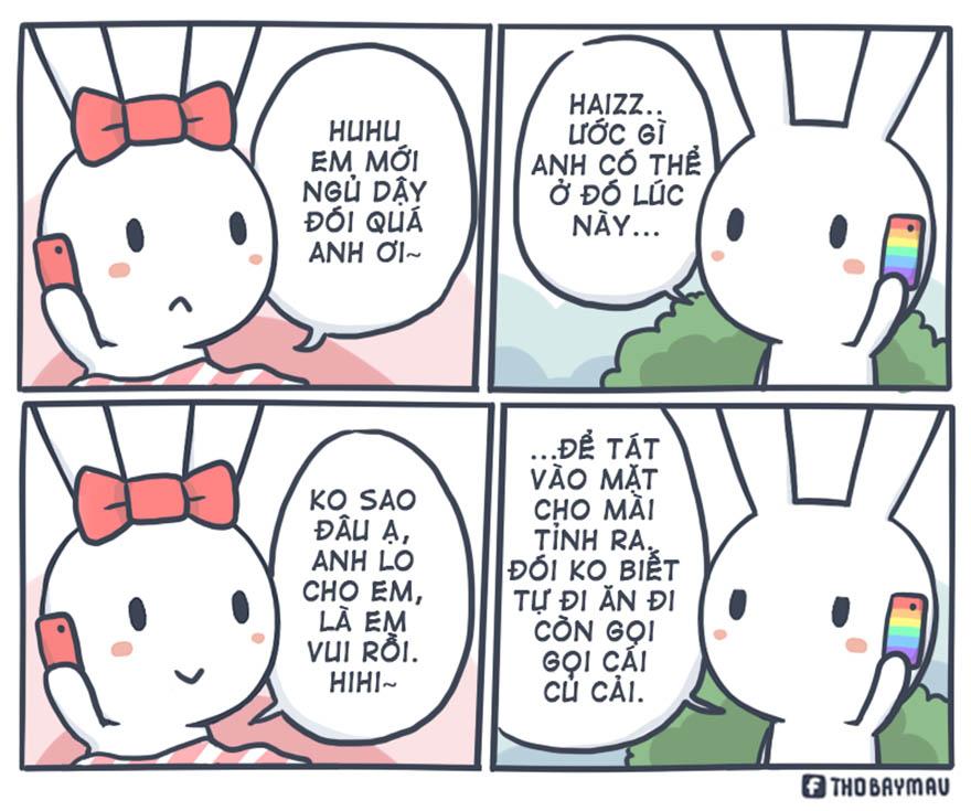 Những mẩu truyện tranh hài hước về chú thỏ 7 màu - Hình 18