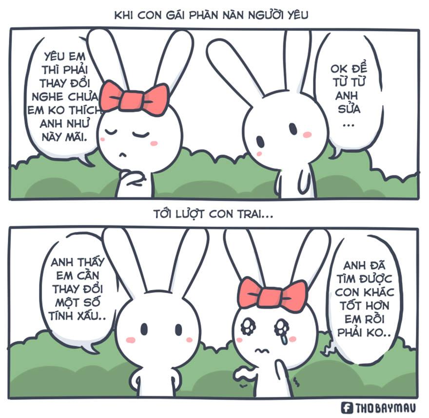 Những mẩu truyện tranh hài hước về chú thỏ 7 màu - Hình 16