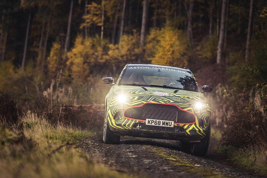 SUV quý tộc Aston Martin DBX lần đầu thử offroad thực địa - Hình 2