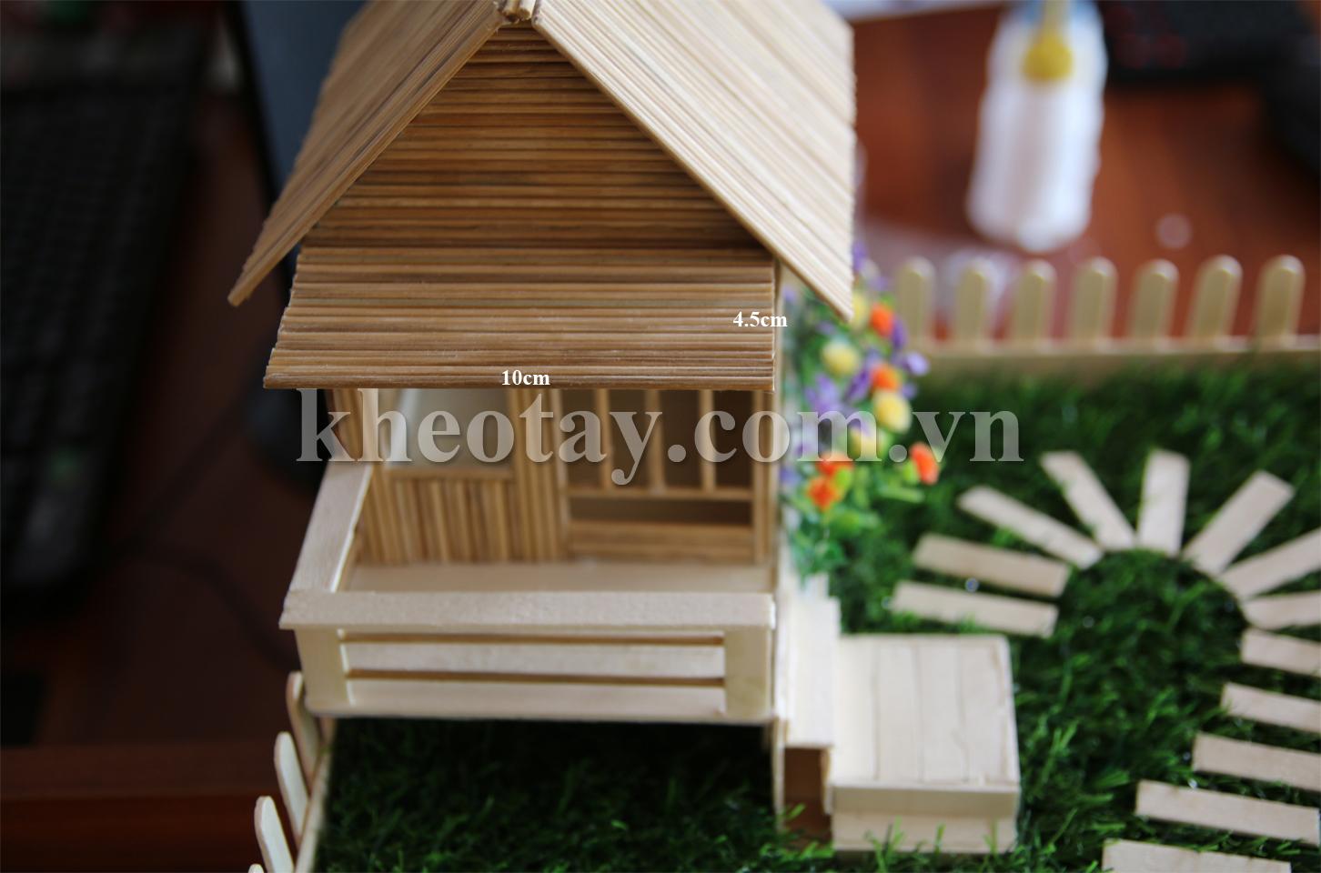 Cách làm nhà tăm tre đơn giản - Mẫu mới - Hình 7