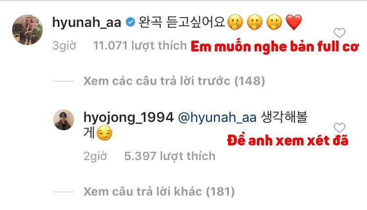Đòi người yêu ra mắt ca khúc mới và HyunA chẳng ngờ phản ứng siêu phũ từ EDawn - Hình 2
