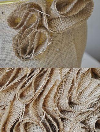 Trang trí chậu hoa xinh xắn bằng vải thô - Hình 6