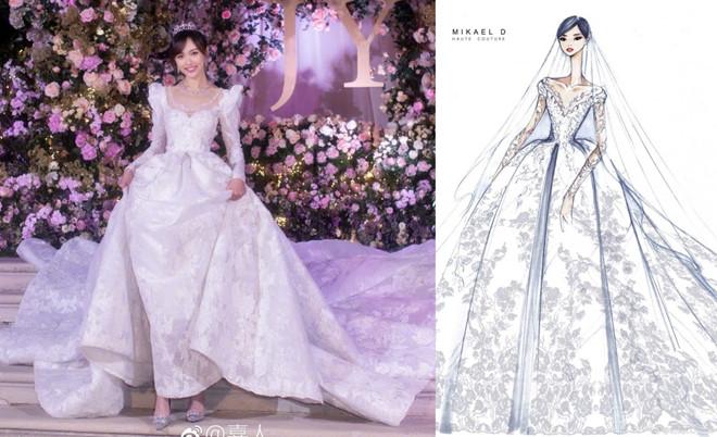4 váy cưới xa xỉ, tốn hàng nghìn giờ làm thủ công của Đường Yên - Hình 2