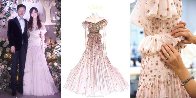 4 váy cưới xa xỉ, tốn hàng nghìn giờ làm thủ công của Đường Yên - Hình 5