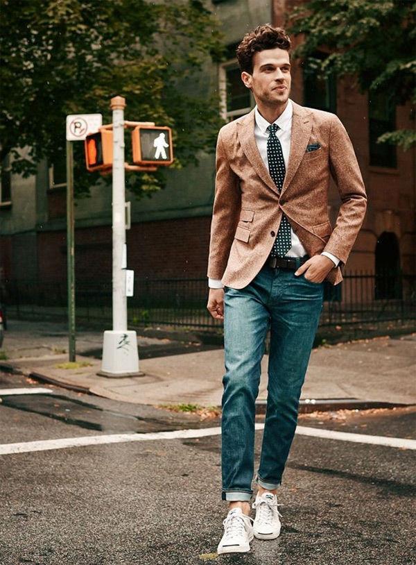 Quý ông sành điệu phải mặc veston với giày thể thao! - Hình 4