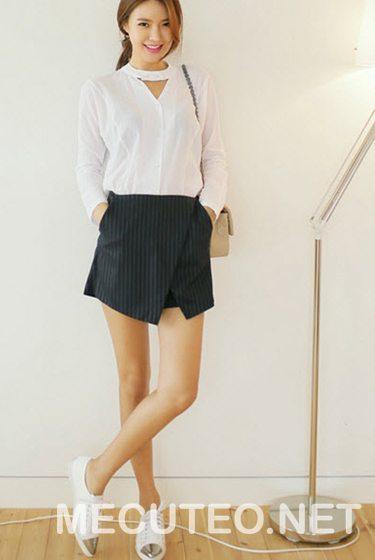 3 cách phối đồ với quần giả váy theo từng phong cách giúp cho bạn gái tự tin để xuất hiện trước đám đông - Hình 19