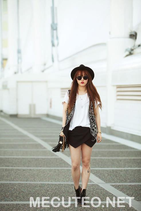 3 cách phối đồ với quần giả váy theo từng phong cách giúp cho bạn gái tự tin để xuất hiện trước đám đông - Hình 7