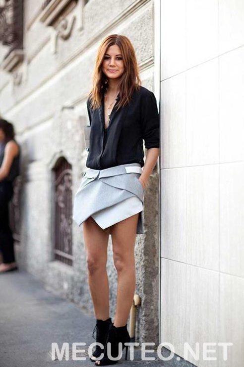 3 cách phối đồ với quần giả váy theo từng phong cách giúp cho bạn gái tự tin để xuất hiện trước đám đông - Hình 9