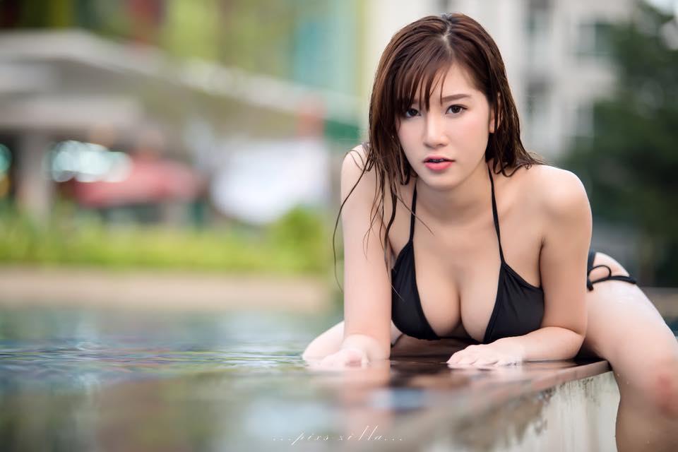 Thiên thần bra Sukanya Moey khoe thềm ngực căng mọng... - Hình 9