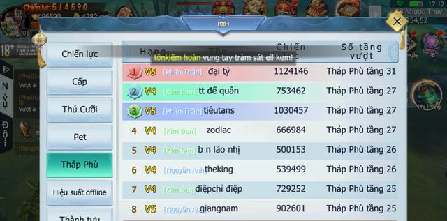 BXH của Tam Sinh Tam Thế đang bị All Kill bởi duy nhất 1 game thủ nữ đây này! - Hình 10