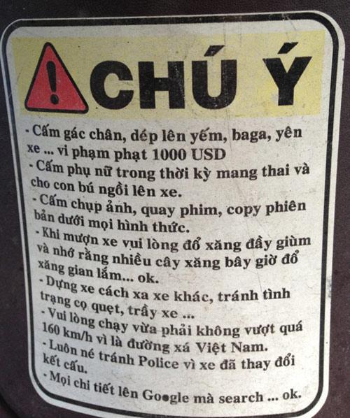 Hài hước những tấm bảng nội quy bá đạo nhất Việt Nam - Hình 8