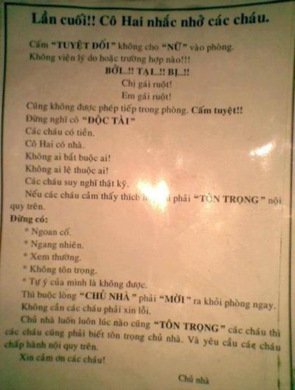 Hài hước những tấm bảng nội quy bá đạo nhất Việt Nam - Hình 3
