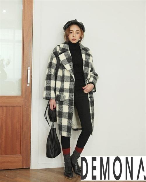 Áo khoác dạ nữ kẻ sọc đẹp công sở không lạnh thu đông - Hình 12