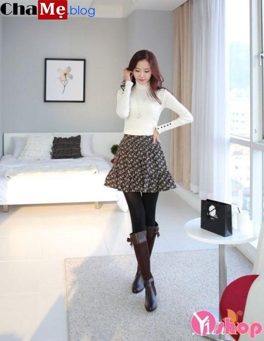 Áo len nữ cổ lọ đẹp phong cách Hàn Quốc dịu dàng đông - Hình 16