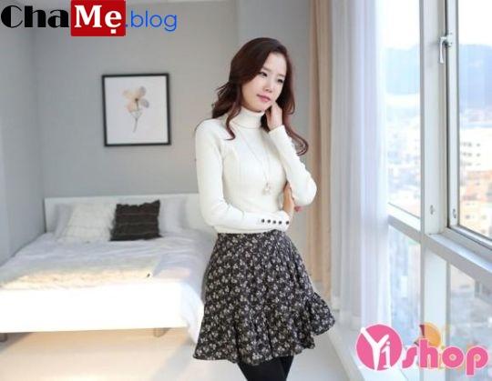 Áo len nữ cổ lọ đẹp phong cách Hàn Quốc dịu dàng đông - Hình 18