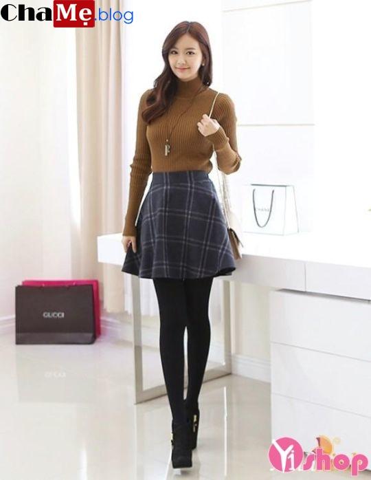 Áo len nữ cổ lọ đẹp phong cách Hàn Quốc dịu dàng đông - Hình 21