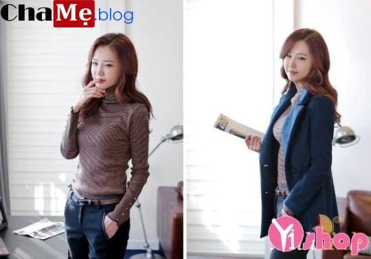 Áo len nữ cổ lọ đẹp phong cách Hàn Quốc dịu dàng đông - Hình 3