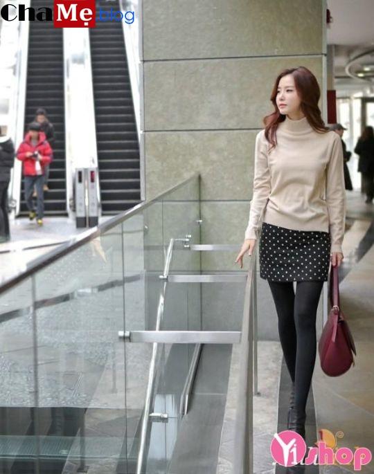 Áo len nữ cổ lọ đẹp phong cách Hàn Quốc dịu dàng đông - Hình 24