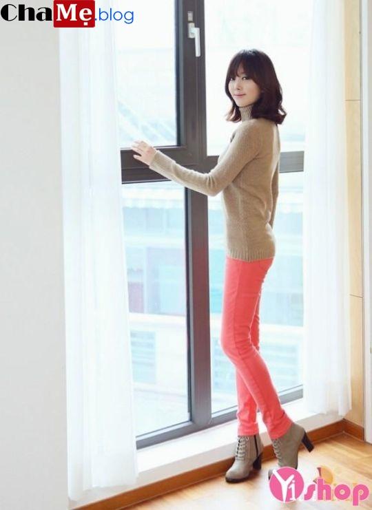 Áo len nữ cổ lọ đẹp phong cách Hàn Quốc dịu dàng đông - Hình 10