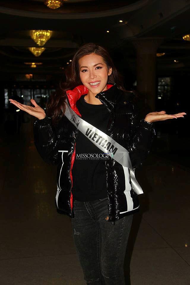 Bị vỡ mao mạch, Minh Tú vẫn gợi cảm thi đồ tắm ở Hoa hậu Siêu quốc gia - Hình 2