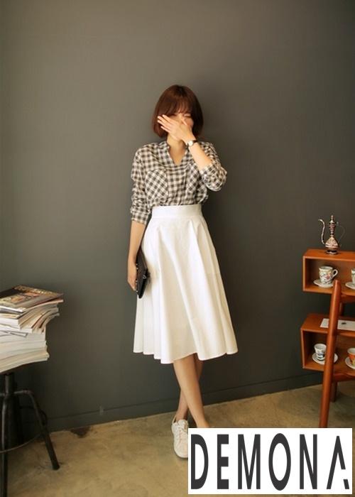 Chân váy midi công sở đẹp gout thời trang được lựa chọn nhiều nhất năm 2018 - Hình 12